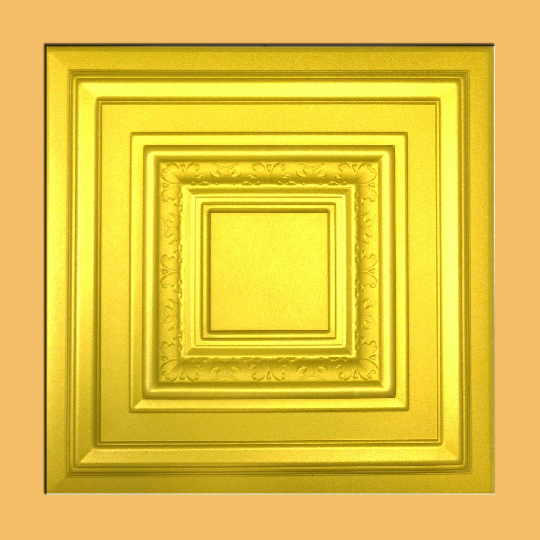 Monaco Gold Foam Glue Up Ceiling Tiles Antique Ceilings