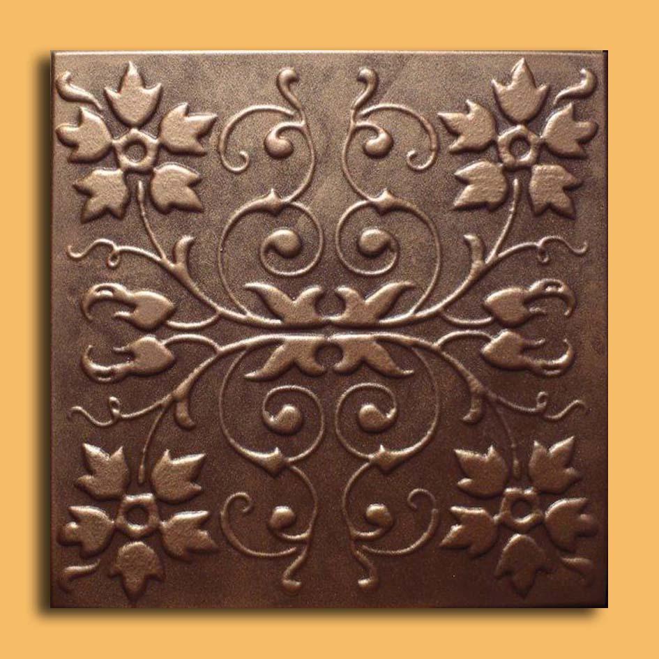20x20 alfa chalcedony foam ceiling tile ceiling tiles antique 20x20 capri antique bronze brown ceiling tiles dailygadgetfo Images