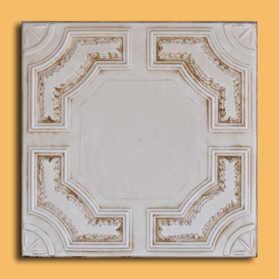 20x20 Caracas Aged Ivory Foam Ceiling Tiles Antique Ceilings