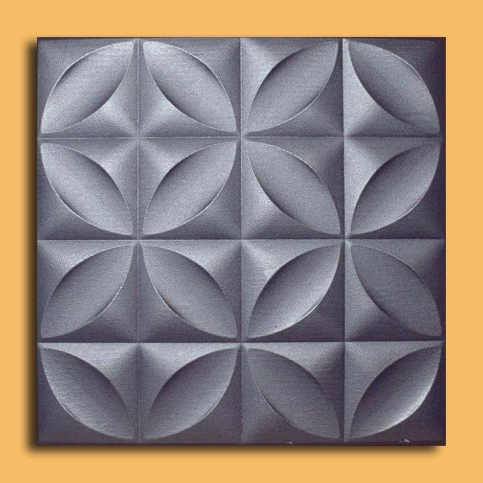 Closter Silver Foam Glue Up Ceiling Tiles Antique