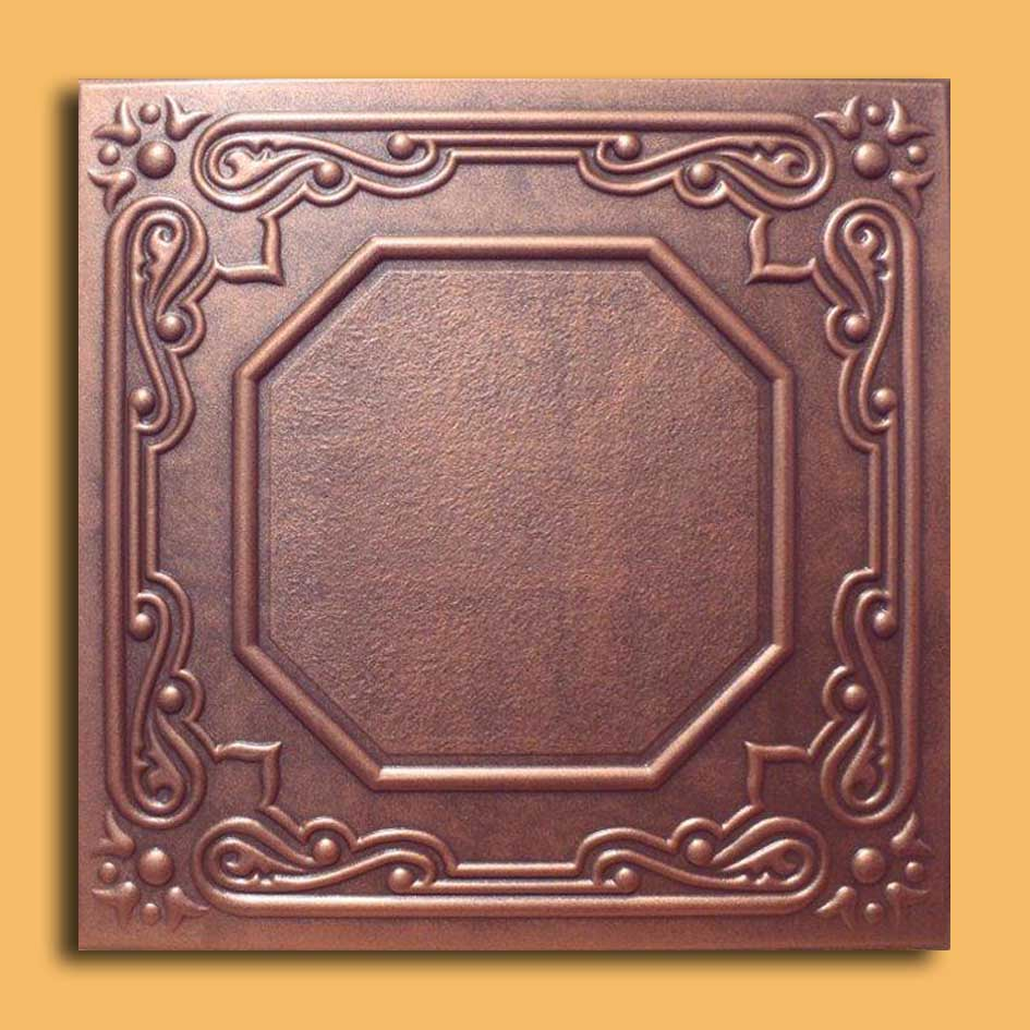 20x20 lisbona antique copper brown ceiling tiles antique ceilings these ceiling tiles are finished in antique design and are made of uniform extruded polystyrene foam with this technology it is possible to obtain smooth dailygadgetfo Gallery