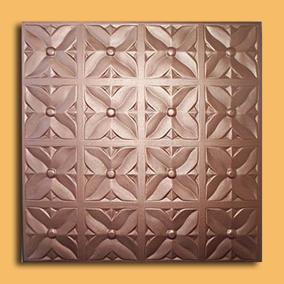 margaretta copper foam glueup ceiling tiles