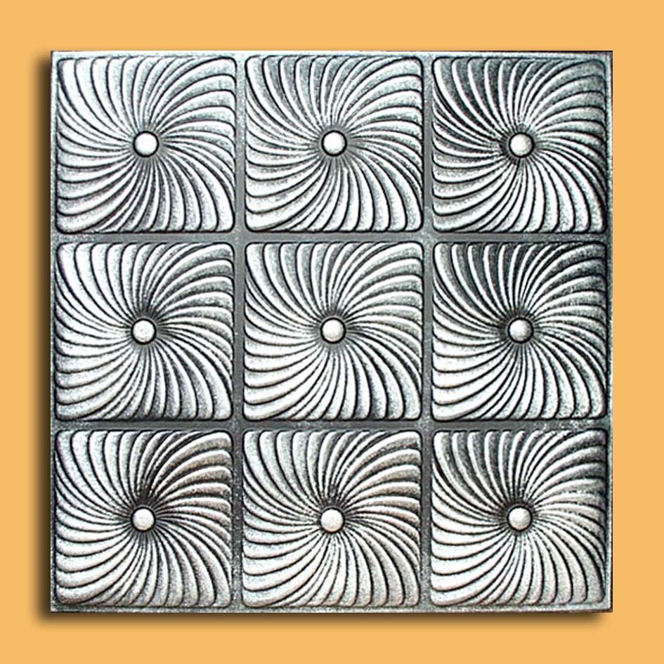 20x20 prato antique silver black ceiling tiles antique ceilings these ceiling tiles are finished in antique design and are made of uniform extruded polystyrene foam with this technology it is possible to obtain smooth dailygadgetfo Gallery