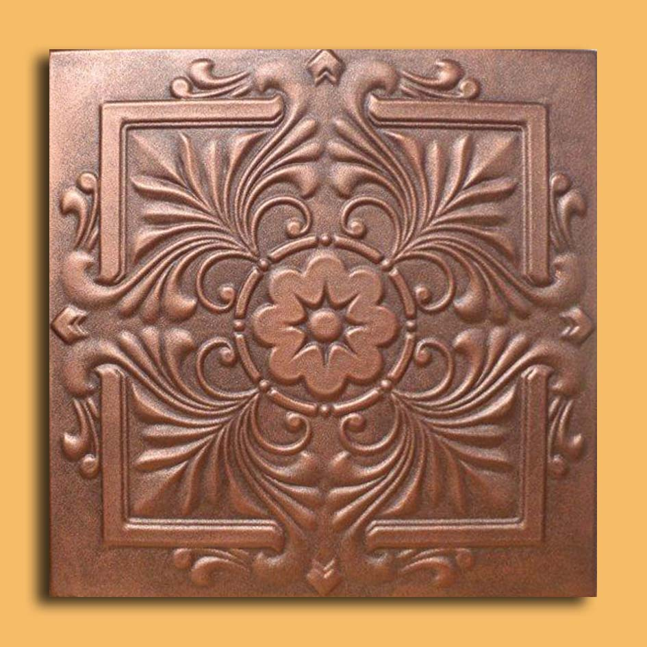 20x20 royal antique copper brown ceiling tiles antique ceilings these ceiling tiles are finished in antique design and are made of uniform extruded polystyrene foam with this technology it is possible to obtain smooth dailygadgetfo Choice Image