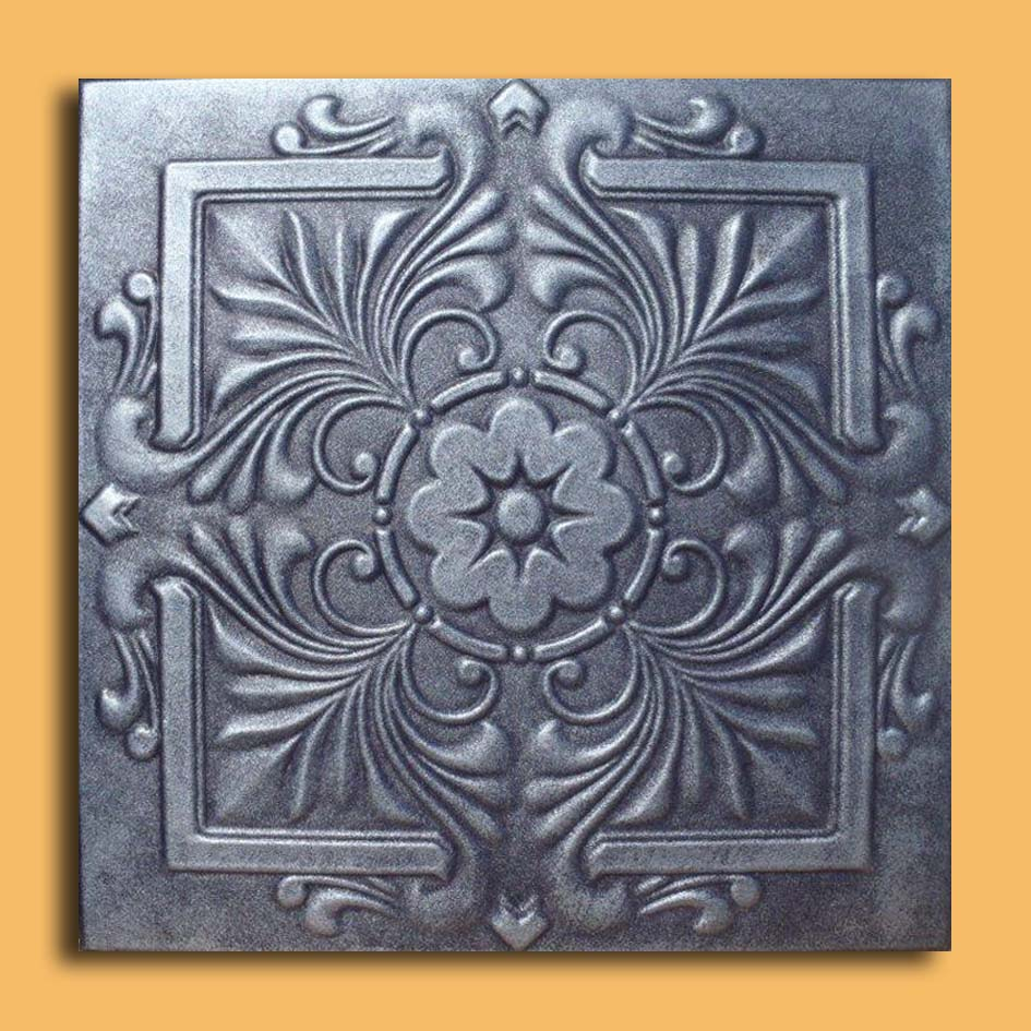 20x20 royal antique silver graphite ceiling tiles antique these ceiling tiles are finished in antique design and are made of uniform extruded polystyrene foam with this technology it is possible to obtain smooth dailygadgetfo Gallery