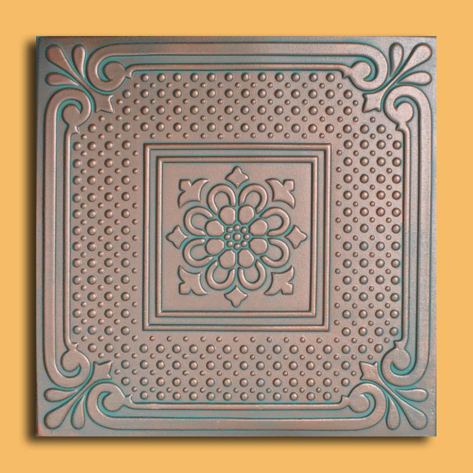 20x20 vienna copper patina pvc 20mil ceiling tiles antique these ceiling tiles are finished in antique design and are made of uniform pvc with this technology it is possible to obtain smooth and even surface dailygadgetfo Choice Image