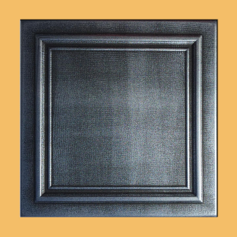 20x20 zeta antique silver black ceiling tiles antique ceilings foam ceiling tile dailygadgetfo Image collections