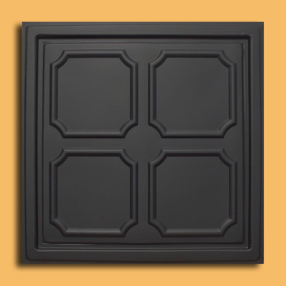 24x24 alfa black pvc 20mil ceiling tiles antique ceilings glue our newest addition plastic ceiling tiles they come in 24x24 size feather light easy to install easy to clean stain resistant water resistant dailygadgetfo Choice Image