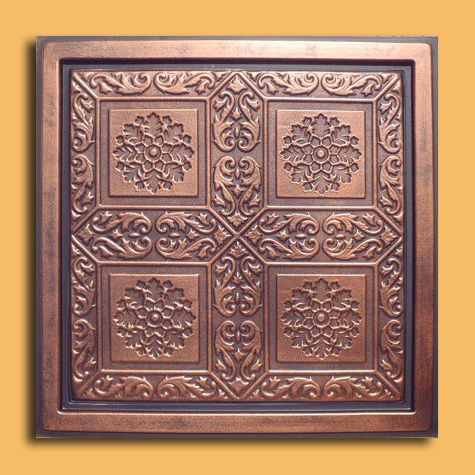 24x24 ankara antique copper black pvc 20mil ceiling tiles our newest addition plastic ceiling tiles they come in 24x24 size feather light easy to install easy to clean stain resistant water resistant dailygadgetfo Choice Image