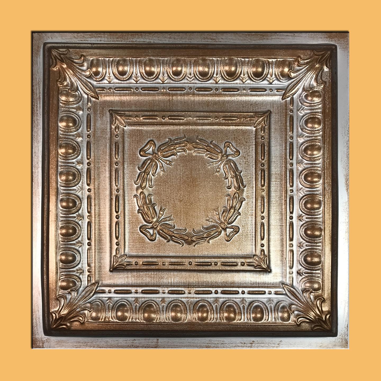 24x24 Asiago Accent Silver Copper Pvc 20mil Ceiling Tile C