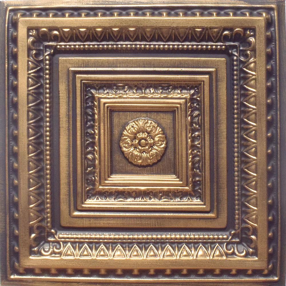 24x24 majesty antique bronze brown pvc 20mil ceiling tiles 24x24 brilliance antique gold black pvc 20mil ceiling tiles dailygadgetfo Images