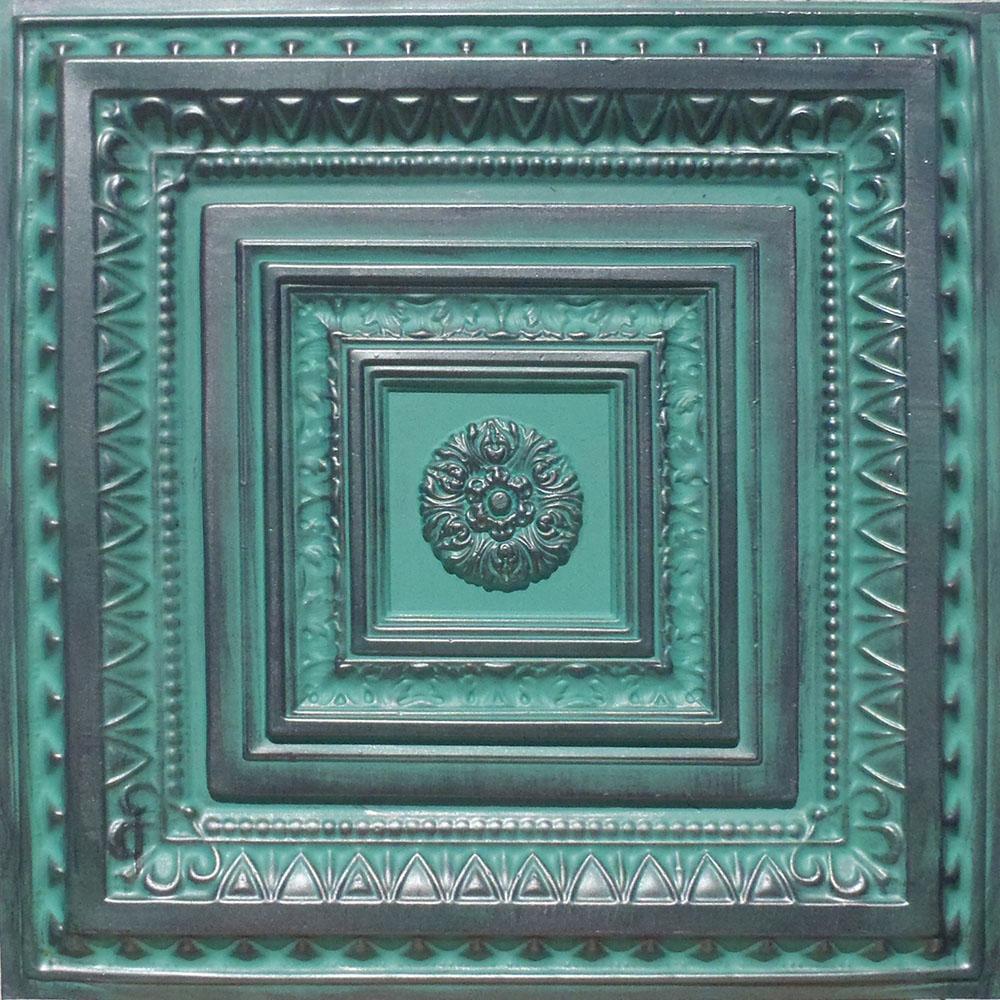 24 Quot X24 Quot Brilliance Antique Silver Patina Pvc 20mil Ceiling