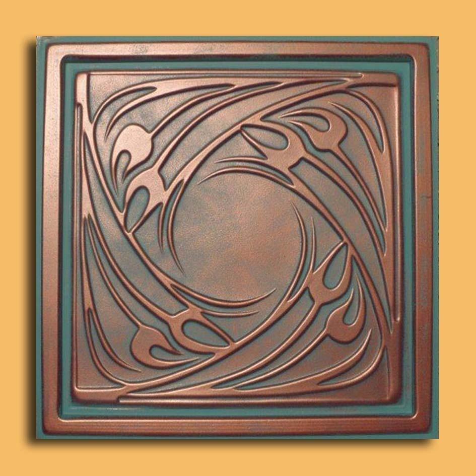 24x24 genoa antique copper patina pvc 20mil ceiling tiles antique 24x24 genoa antique copper patina pvc 20mil ceiling tiles pvc ceiling tile dailygadgetfo Images