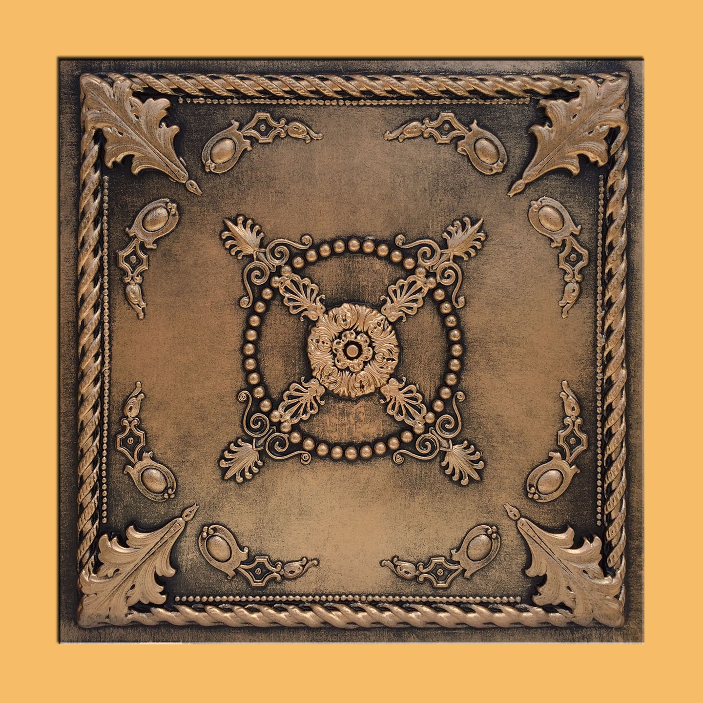 24x24 jewel antique bronze black pvc 20mil ceiling tile c our newest addition plastic ceiling tiles they come in 24x24 size feather light easy to install easy to clean stain resistant water resistant dailygadgetfo Image collections