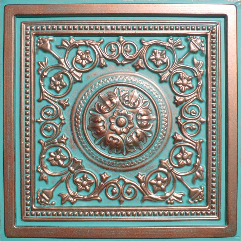 24 Quot X24 Quot Majesty Antique Copper Patina Pvc 20mil Ceiling
