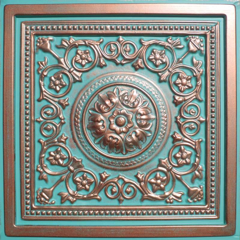 24 X24 Majesty Antique Copper Patina Pvc 20mil Ceiling Tiles Best