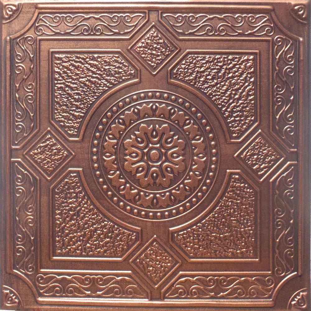 Copper 1 qt ceiling tiles antique ceilings glue up ceiling 24x24 peru antique copper black pvc 20mil ceiling tiles dailygadgetfo Images