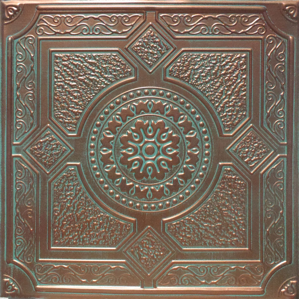24 Quot X24 Quot Anet Antique Copper Black Pvc 20mil Ceiling Tiles