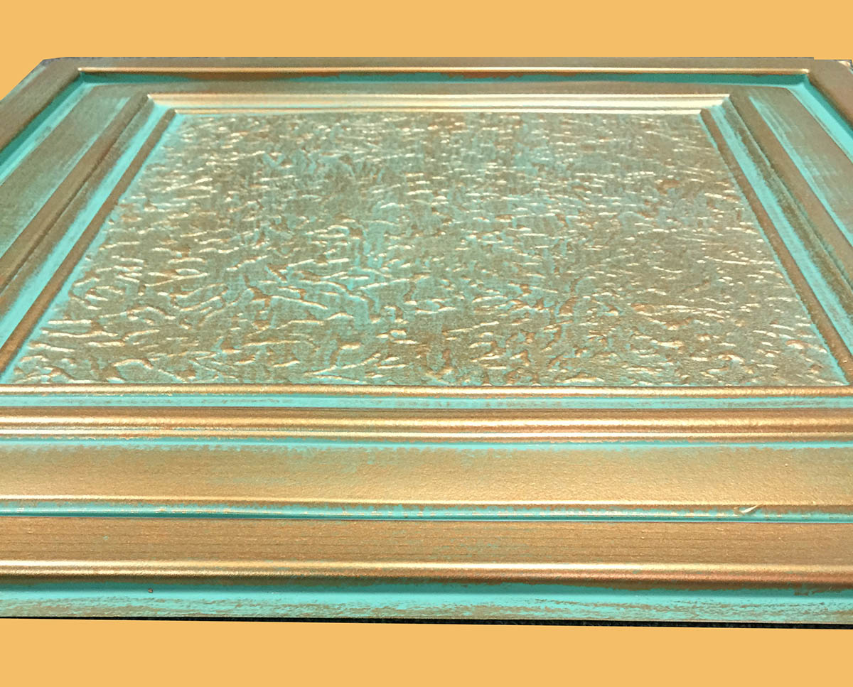 24 Quot X24 Quot Zeta Antique Copper Patina Pvc 20mil Ceiling Tiles