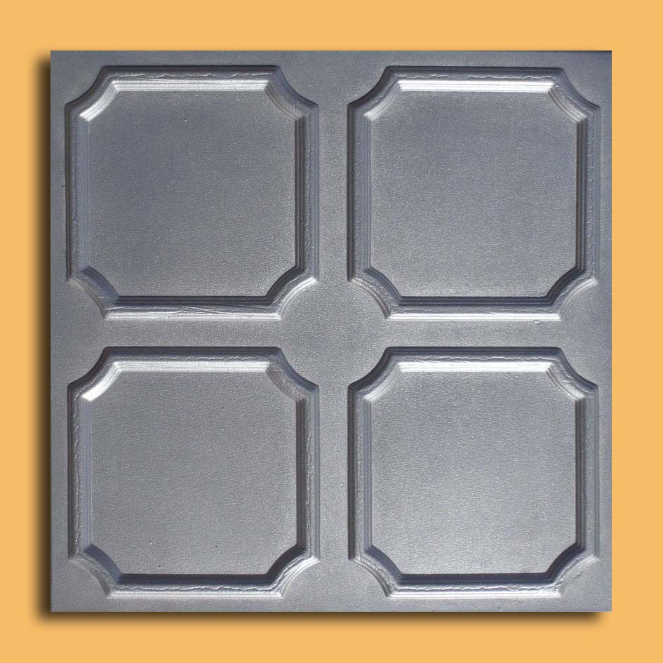 Alfa silver foam glue up ceiling tiles antique ceilings glue up characteristics if you want your ceiling to add a stylish decor to your house the metallic tiles are the perfect choice with their high relief dailygadgetfo Choice Image