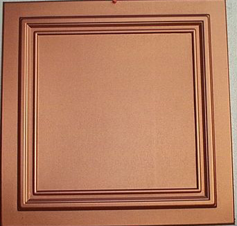 zeta copper ceiling tiles