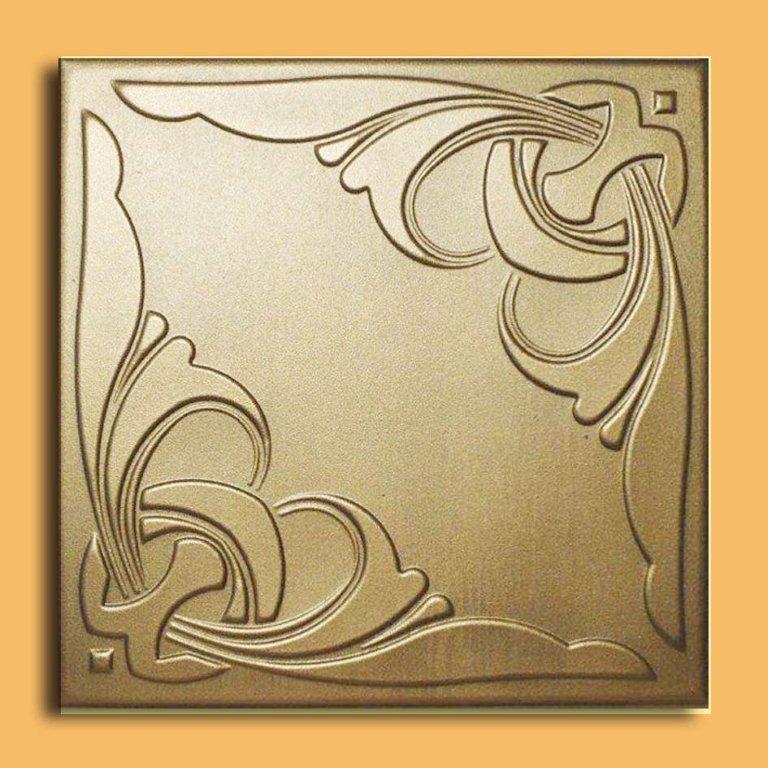 monaco gold foam glue up ceiling tiles monaco - Glue Up Ceiling Tiles