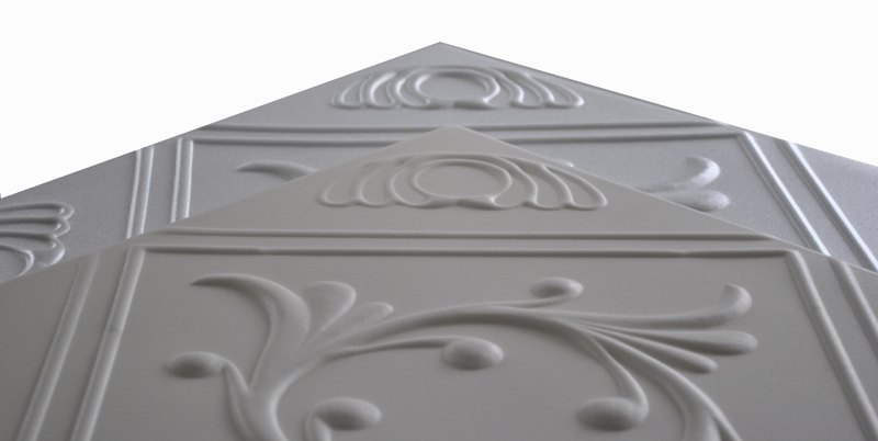 Comparing White and Antique White Decorative Ceiling Tiles