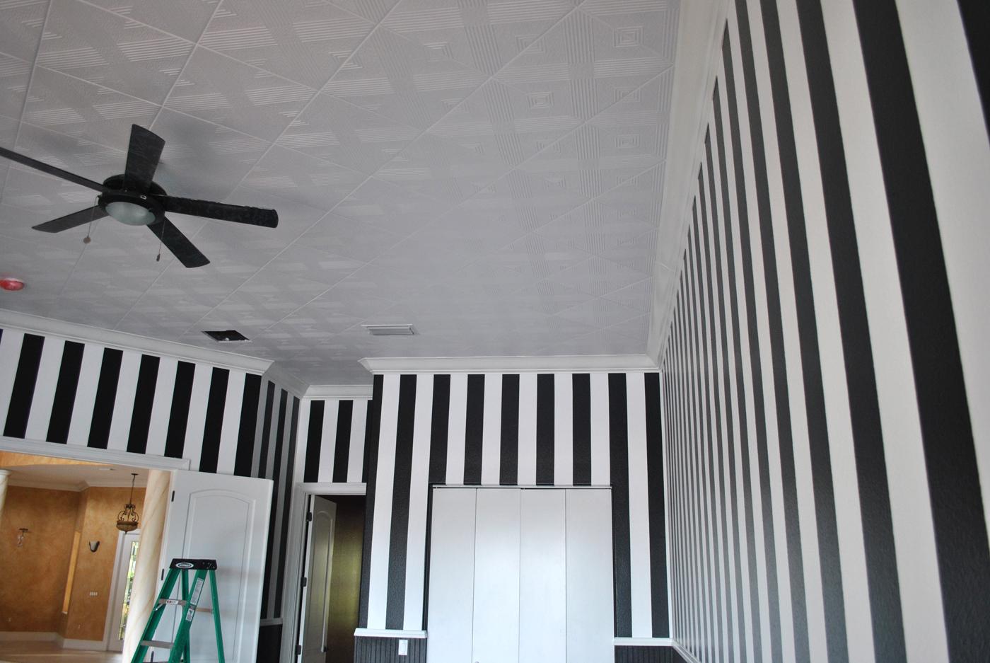 Painting White Ceiling Tiles Www Energywarden Net