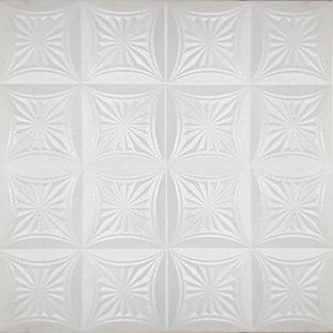 """White Tile 20""""x20"""" novara white tile ceiling tiles, antique ceilings- glue up"""